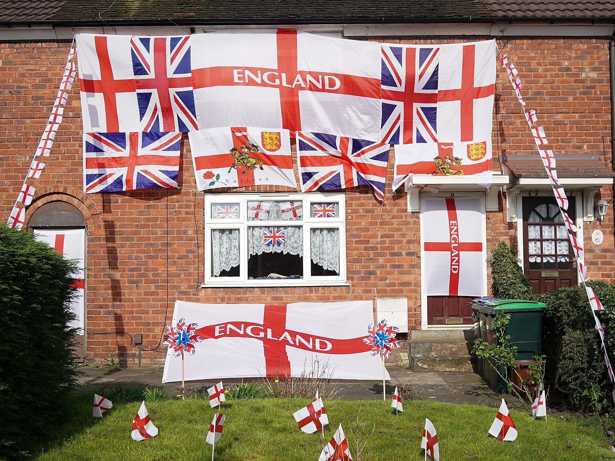 Is flying a St George's flag an act of patriotism or a symbol of all