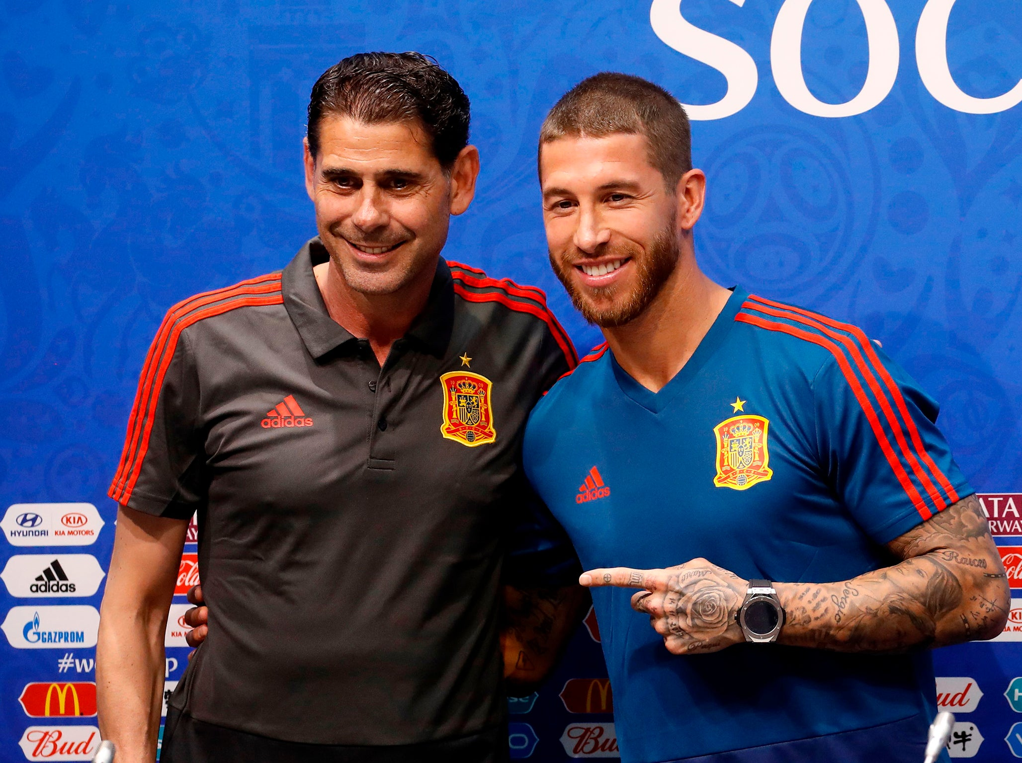World Cup  Sergio Ramos Insists Spain Camp Remains United Ahead Of Crunch Match Against Portugal The Independent