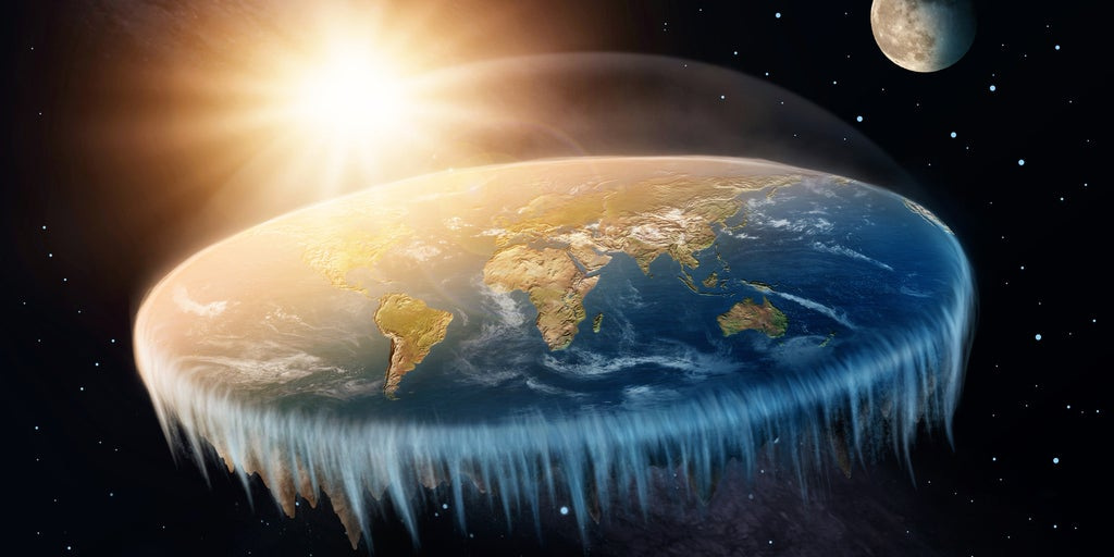 This man just destroyed the Flat Earth theory with a basketball and a camera