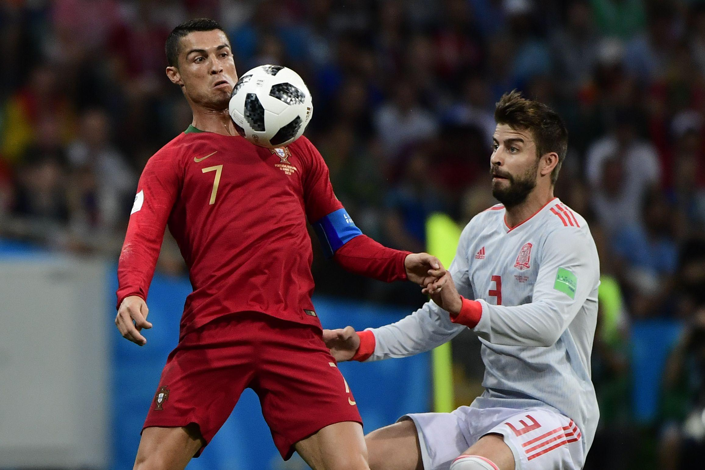 World Cup 2018: Spain's Gerard Pique says Cristiano Ronaldo 'has a habit of throwing himself to the ground'