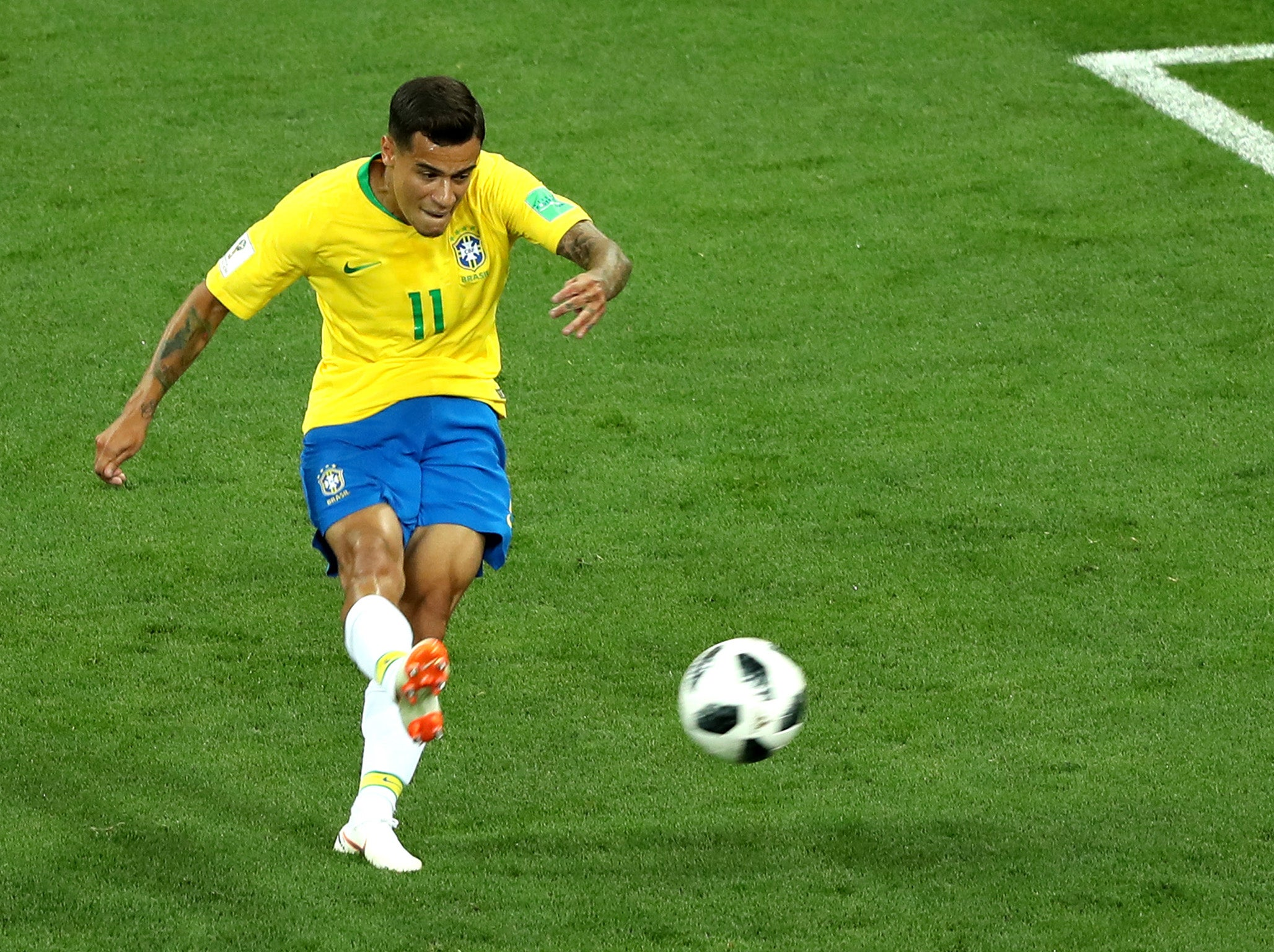 Image result for coutinho goal vs Switzerland