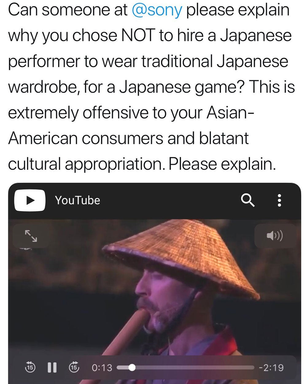 Women accuses Sony of cultural appropriation and gets a