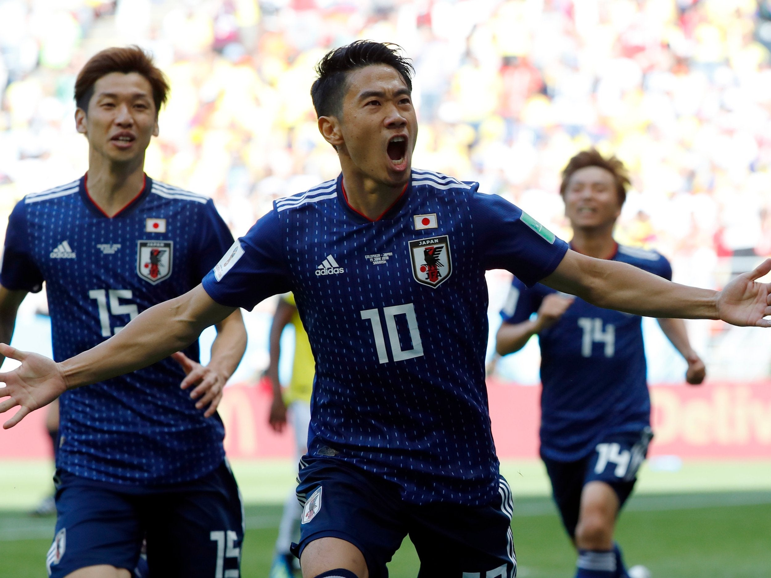 Colombia vs Japan LIVE World Cup 2018: James Rodriguez out and early red card - latest score, goals and updates