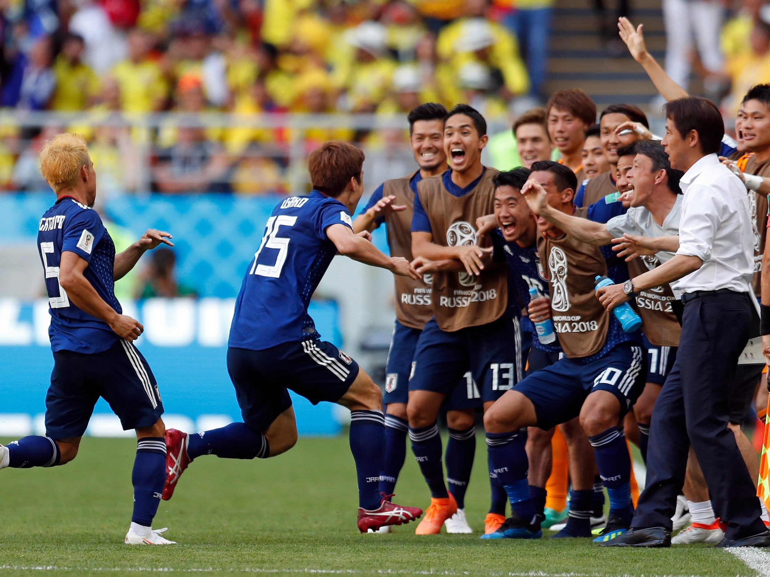 538332c3e Colombia vs Japan  Yuya Osako stuns South Americans with late winner to  throw Group H wide open