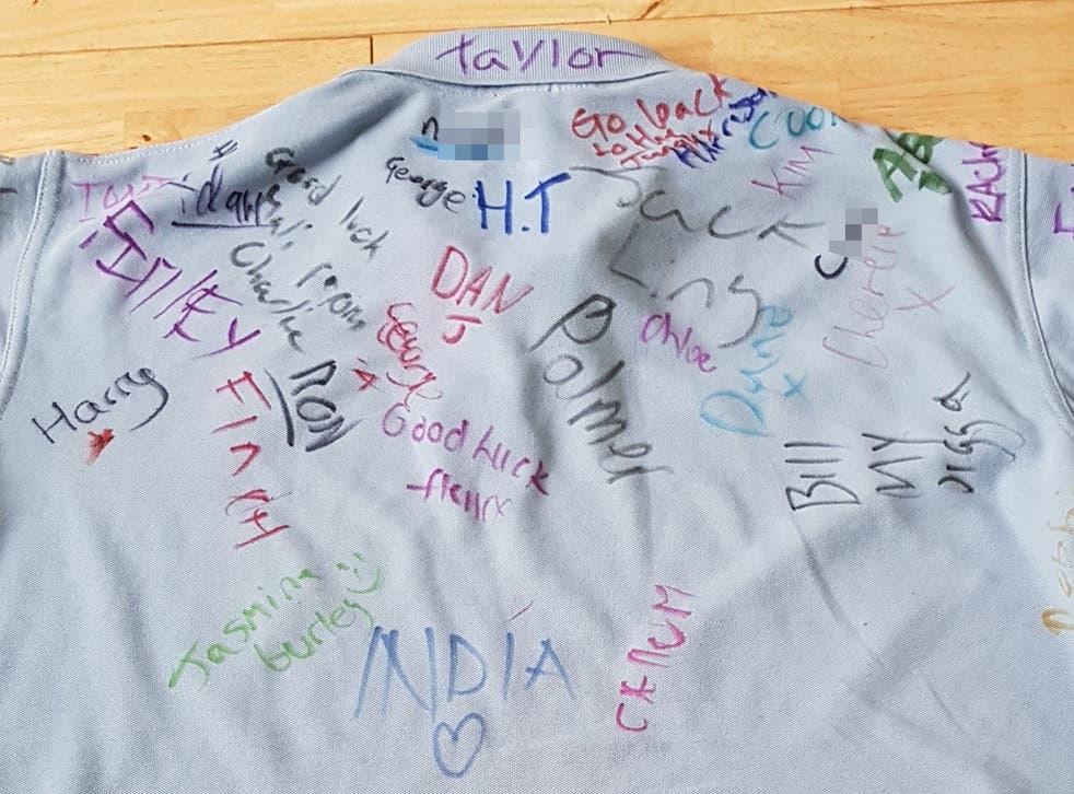 Racist abuse written on Clacton County High School shirt