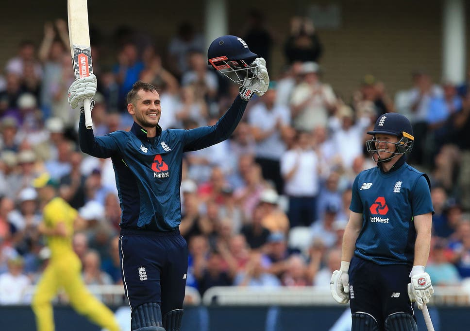 Alex Hales hit 147 off 92 balls as England posted a record 481-6