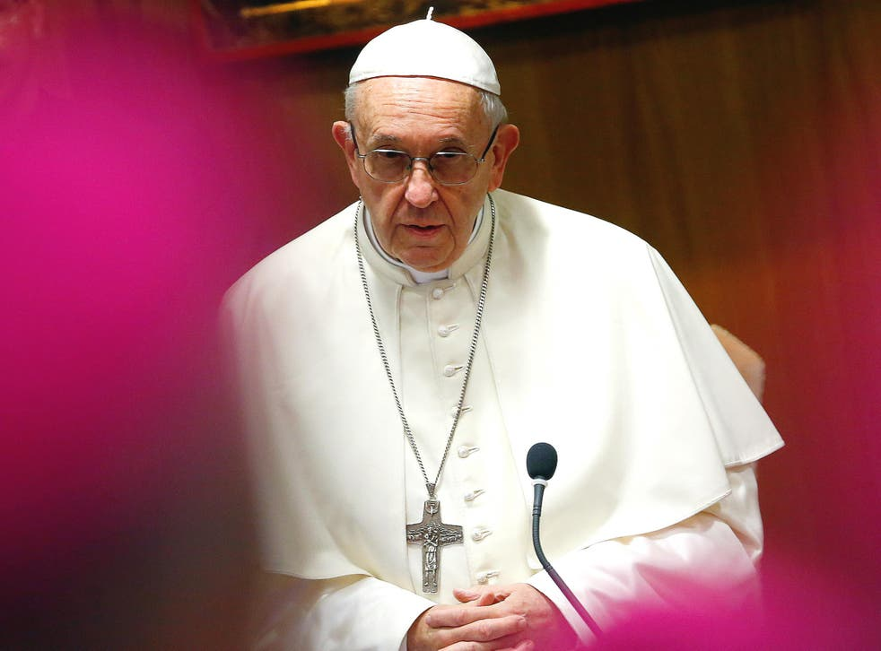 Pope Francis has criticised Donald Trump