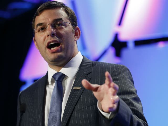 Justin Amash speaks at the Liberty Political Action Conference in Chantilly, Virginia