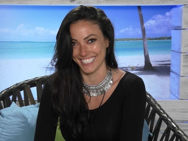 Sophie Gradon during the 2016 series of Love Island