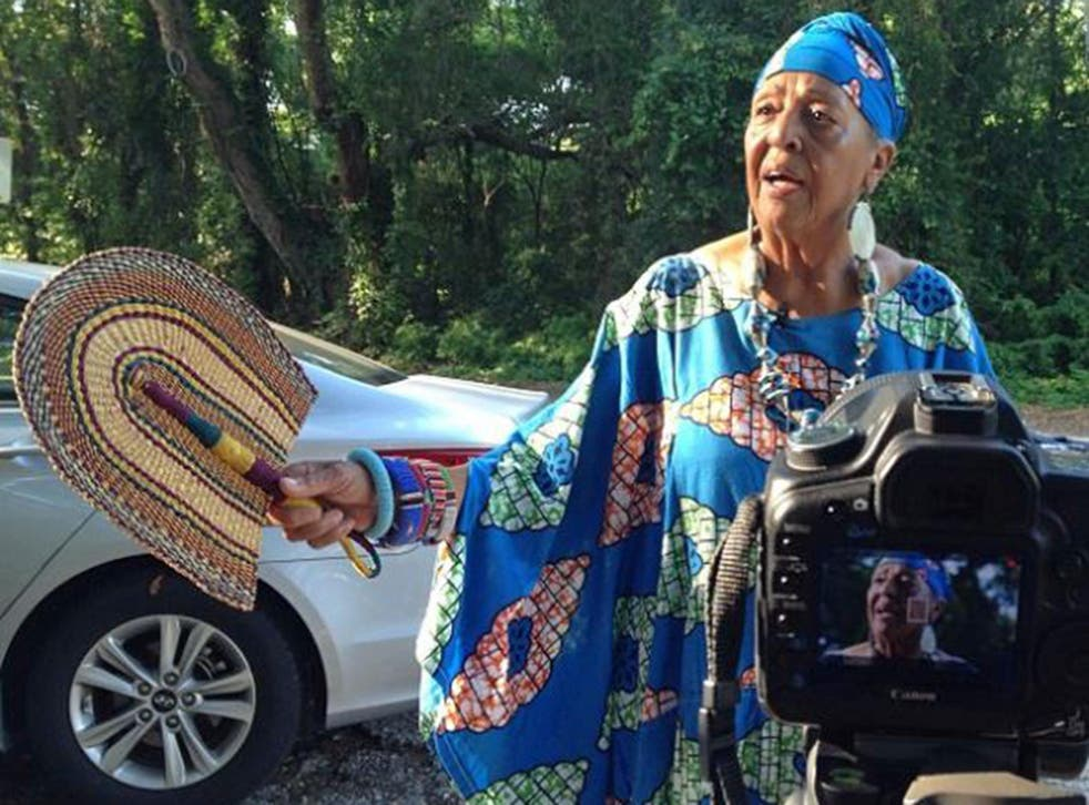 Gullah-speaking Caroline seeks to educate her fellow US compatriots about one of America's oldest continuing cultures