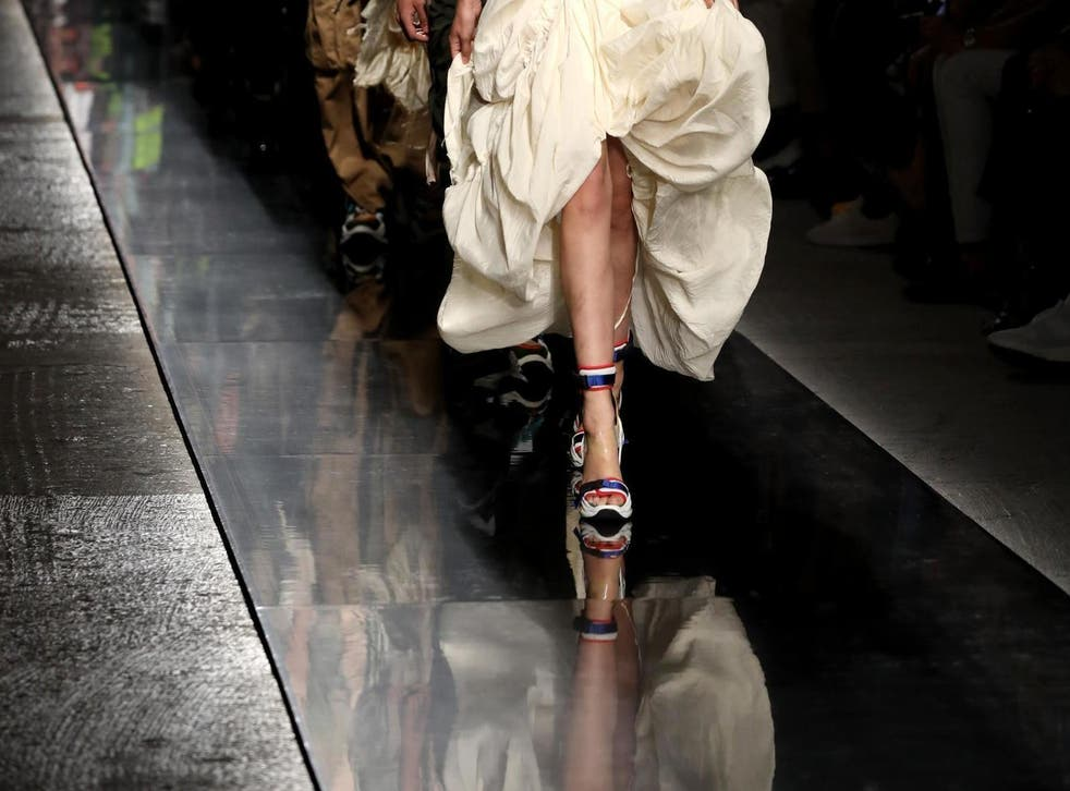 Dsquared2's sneaker wedge heels are being mocked (Getty)