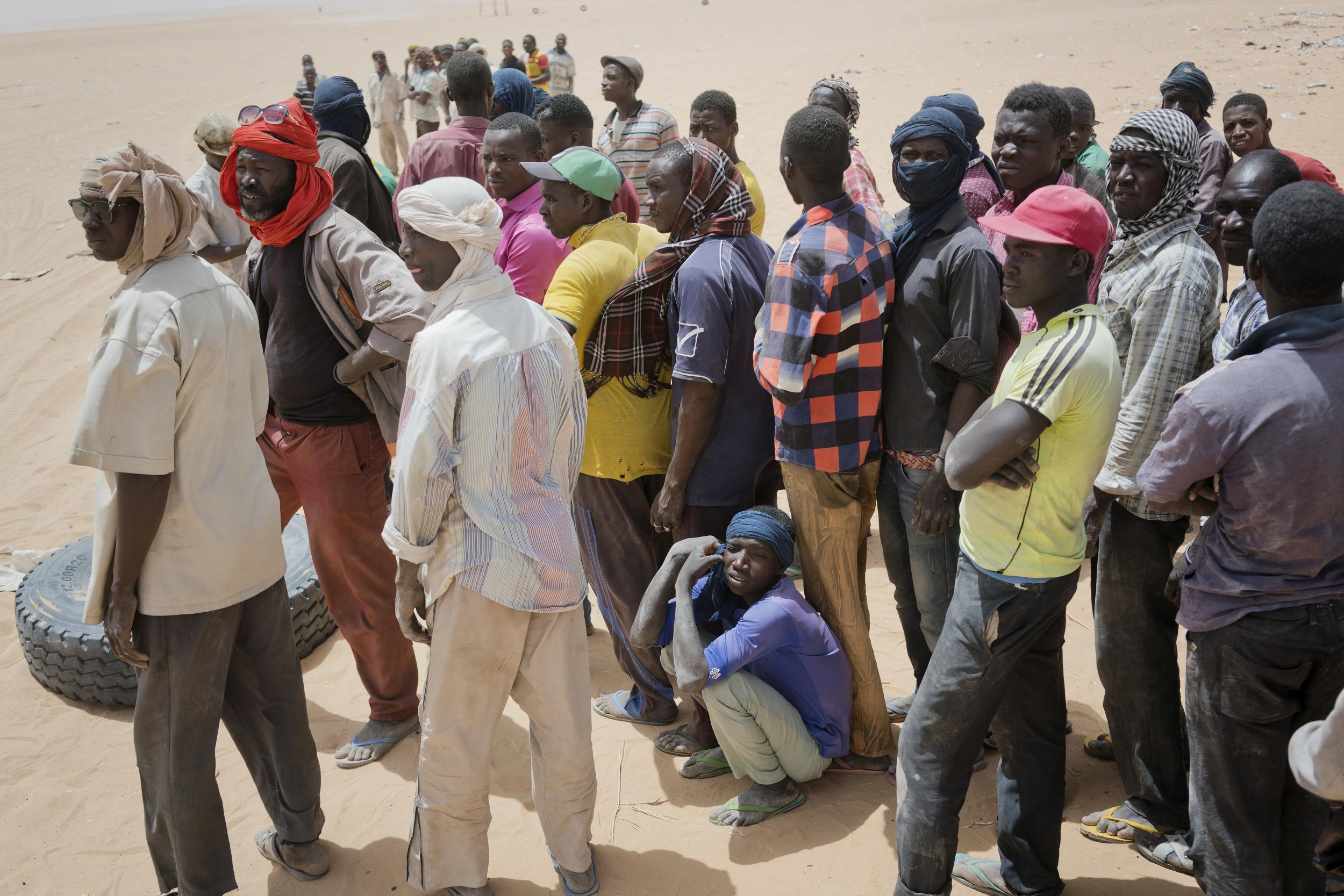 Algeria was accused of leaving 13,000 migrants, including pregnant women and children, in the desert 40