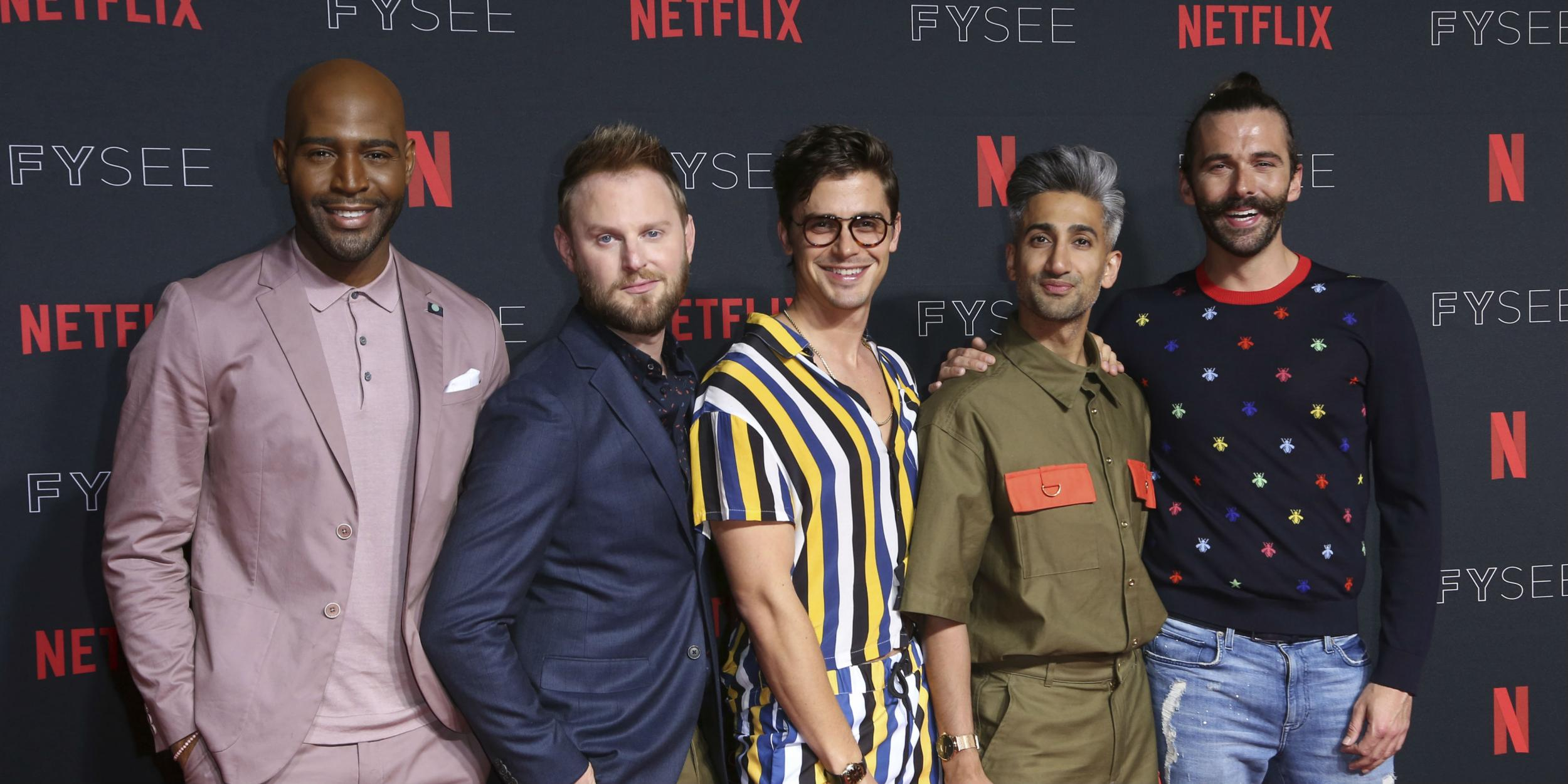the five queer eye cast members demanded they receive equal pay for the show indy100. Black Bedroom Furniture Sets. Home Design Ideas