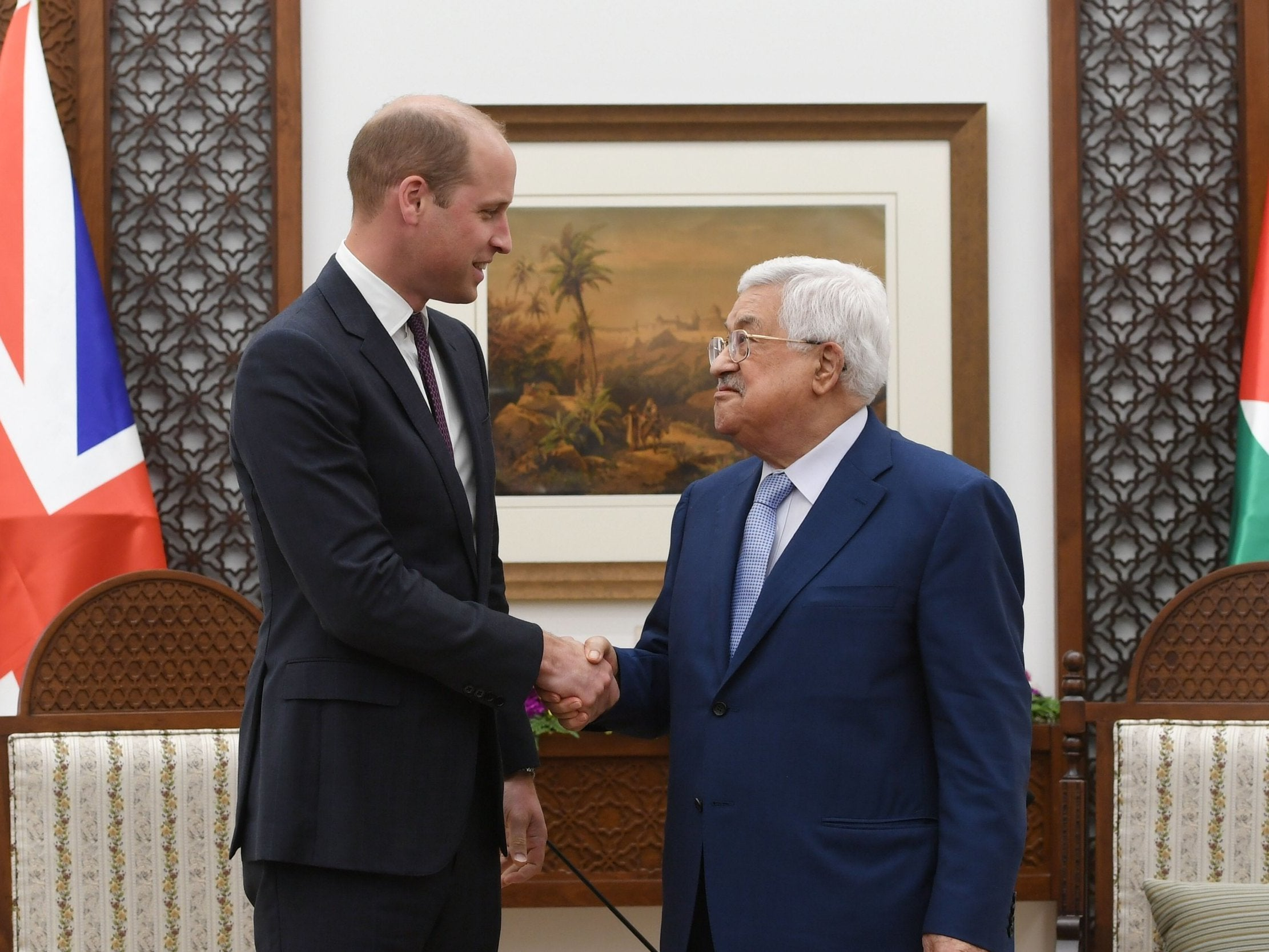 Prince William voices 'hope for lasting peace' during first ever royal visit to West Bank
