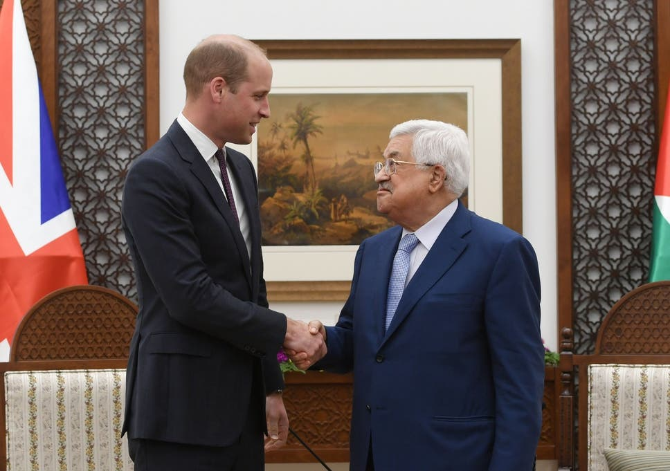 Image result for Come back to an independent Palestine, Abbas tells Prince William