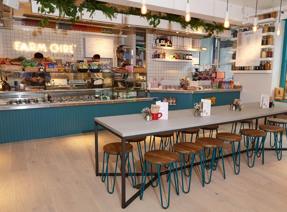 With tubs of charcoal, chlorophyll and blue matcha on the counter, the vibe at the Carnaby Street eatery is clear from the start