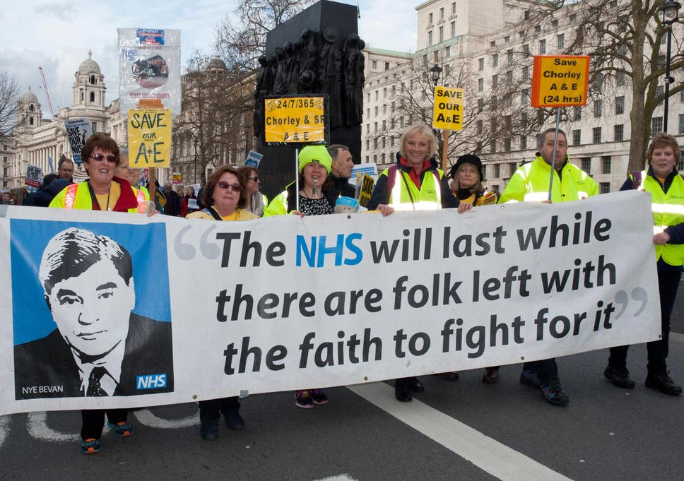 Image result for nhs protest london