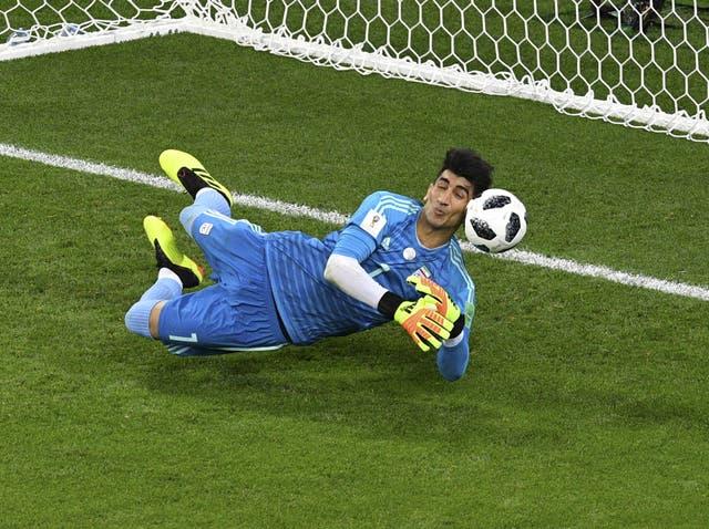 Alireza Beiranvand saves Cristiano Ronaldo's penalty
