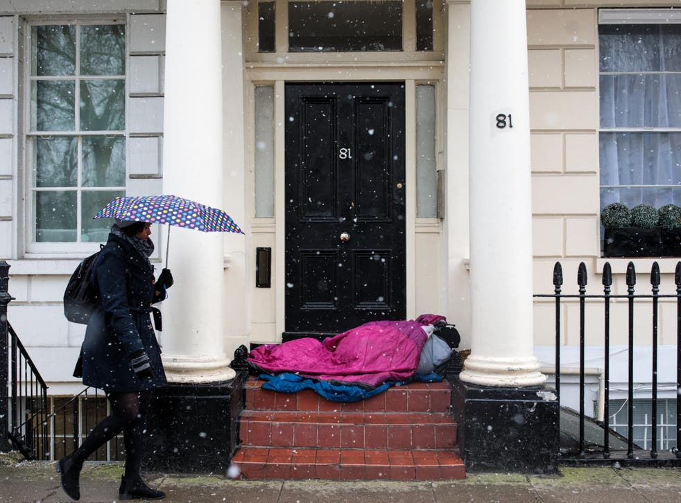 The number of homeless people recorded dying on the streets has more than doubled over the past five years in the UK