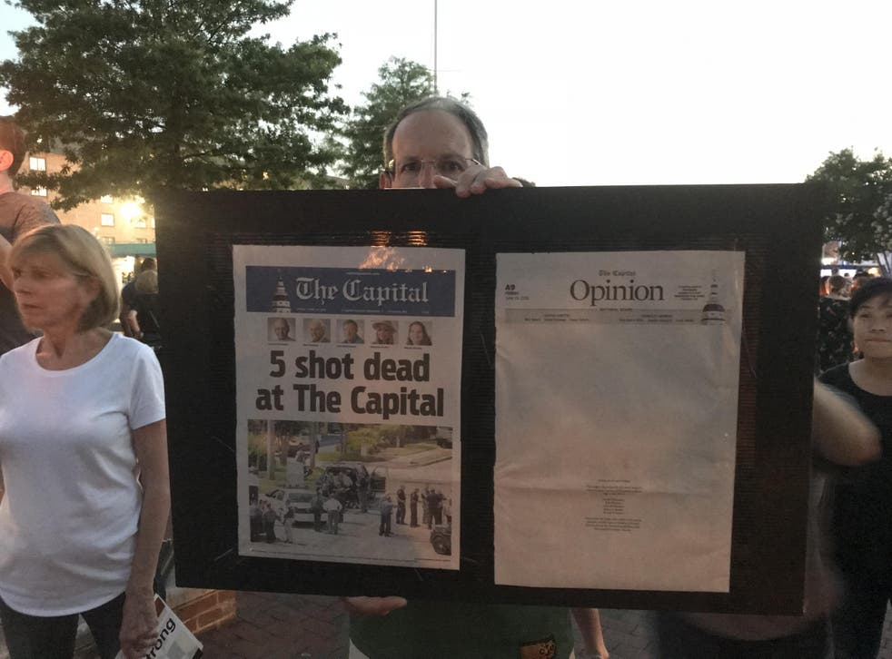 A lone gunman opened fire on the offices of Capital Gazette newspaper in Annapolis