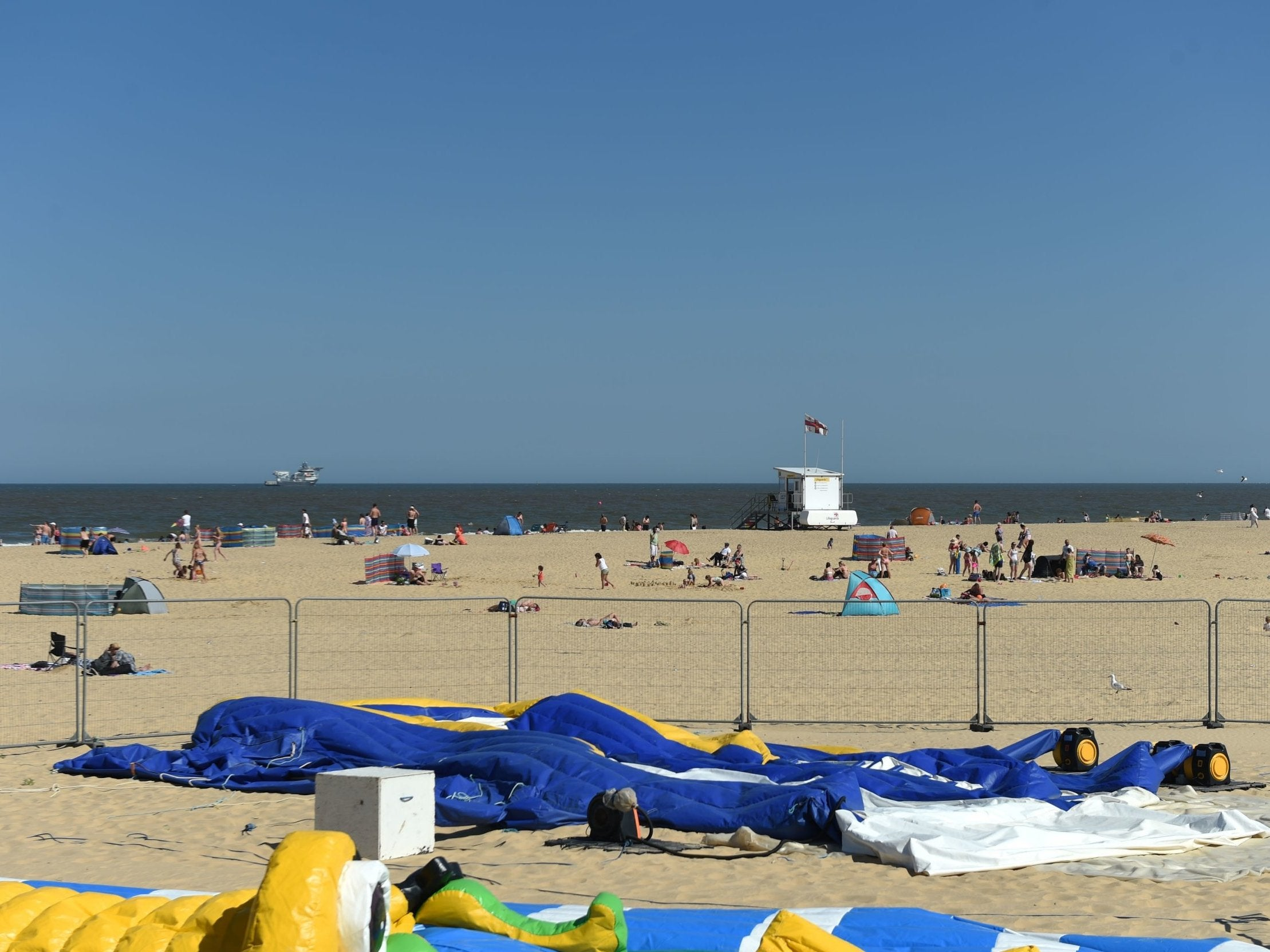 Young girl killed in bouncy castle incident on Gorleston