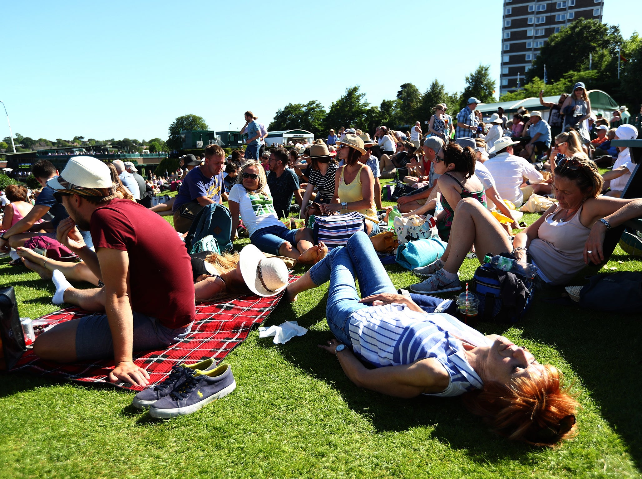 Extreme Hot Weather Fans : Wimbledon weather forecast tournament on course to