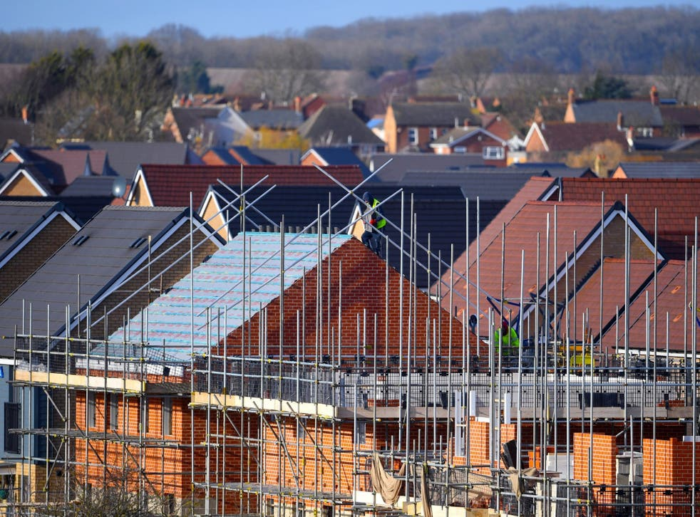 Activity in housebuilding fell back, although it was still the best performing sector