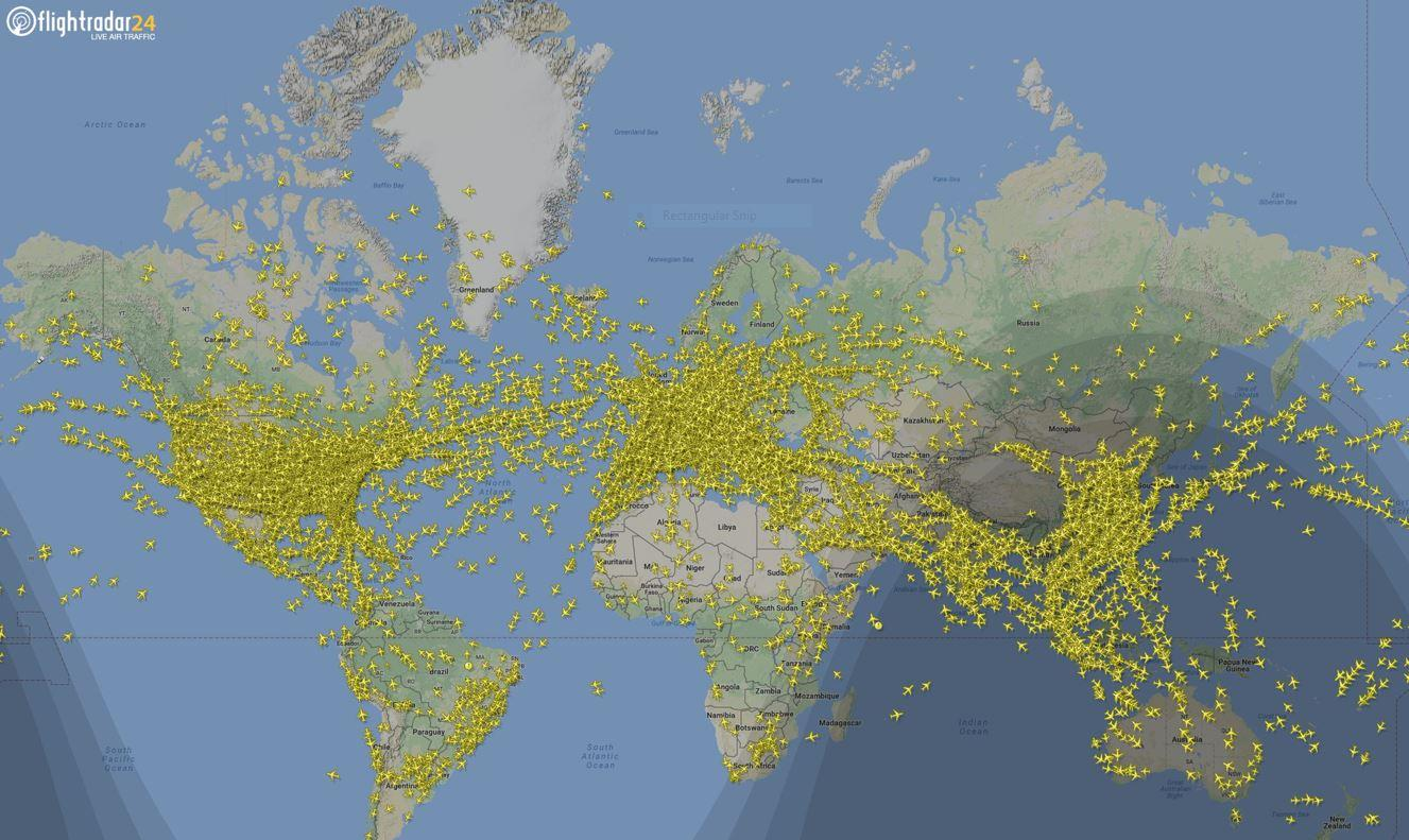 Fascinating footage shows more than 200,000 flights in the skies