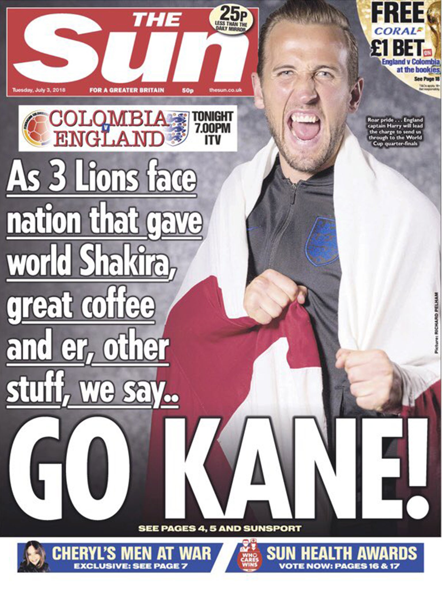 Colombians angry and bemused by the suns controversial harry kane cocaine front page