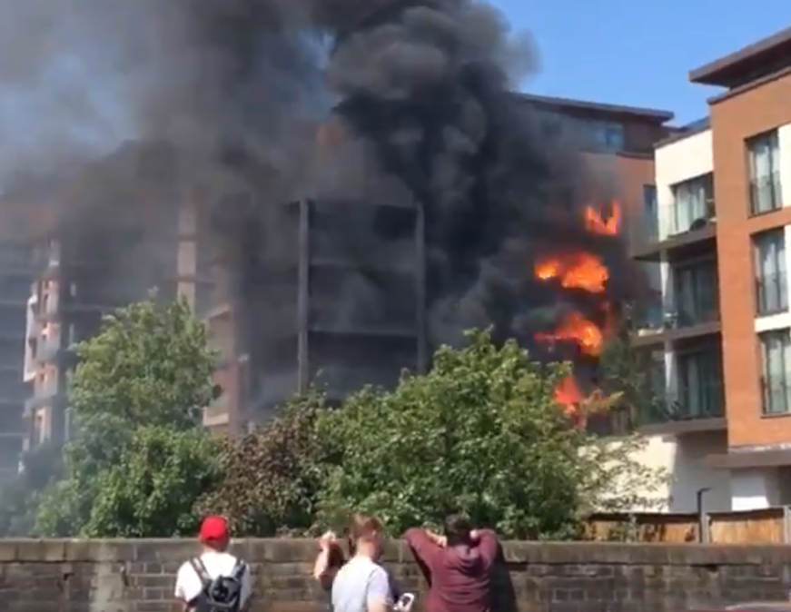 West Hampstead fire: Dozens of firefighters tackle blaze at