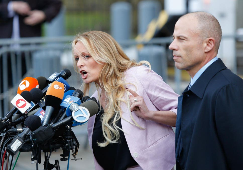 Image result for images of stormy daniels lawyer and trump