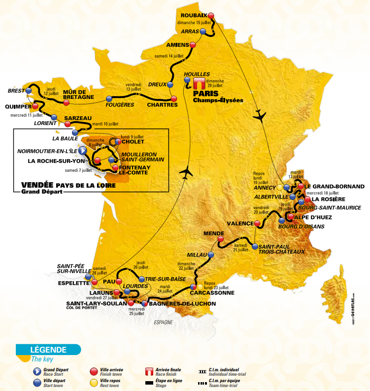 Tour de france 2018 stage by stage guide of the routes profiles rest day thecheapjerseys Images