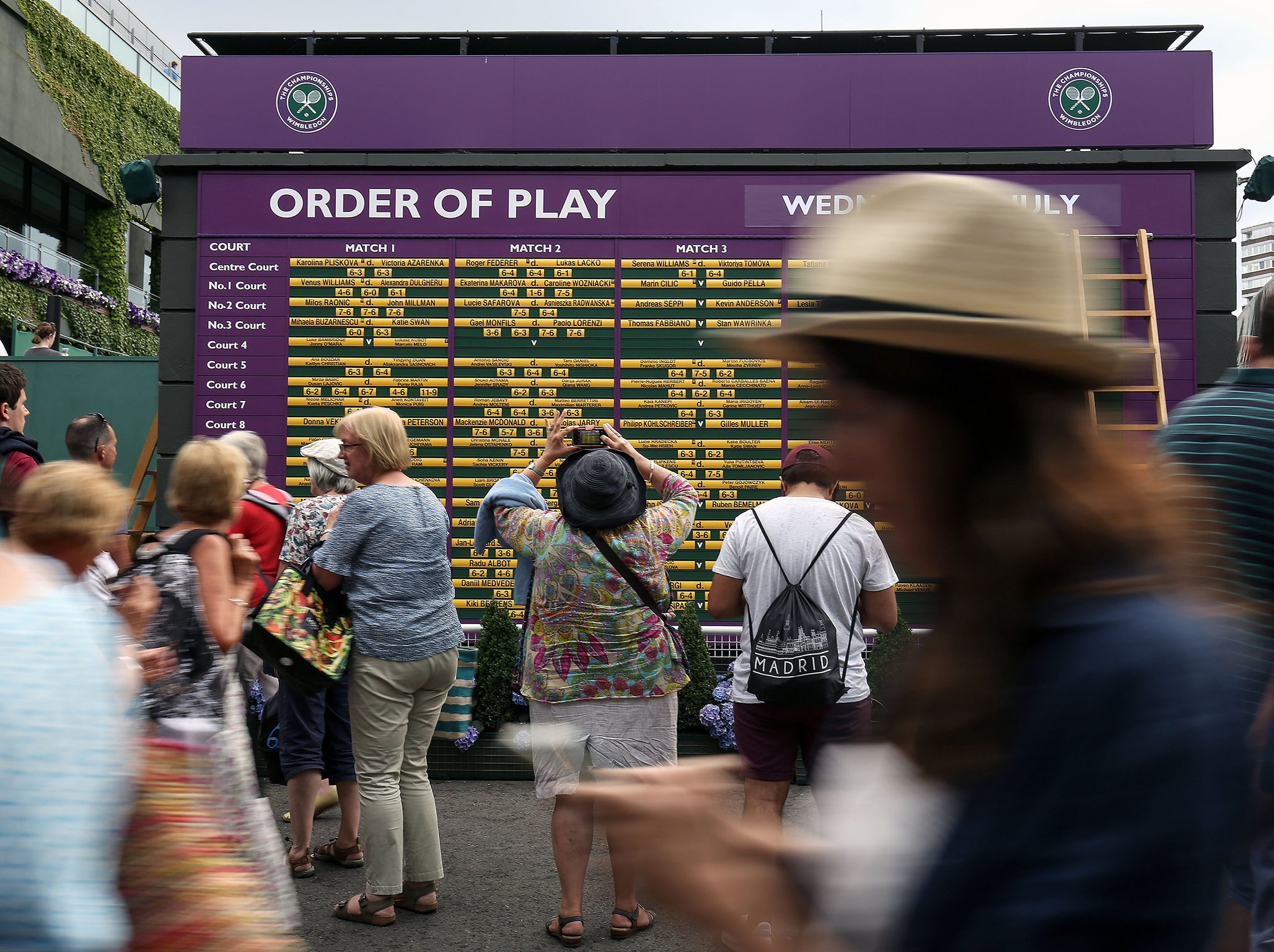 wimbledon order of play 2018 day 4 schedule dates draw. Black Bedroom Furniture Sets. Home Design Ideas