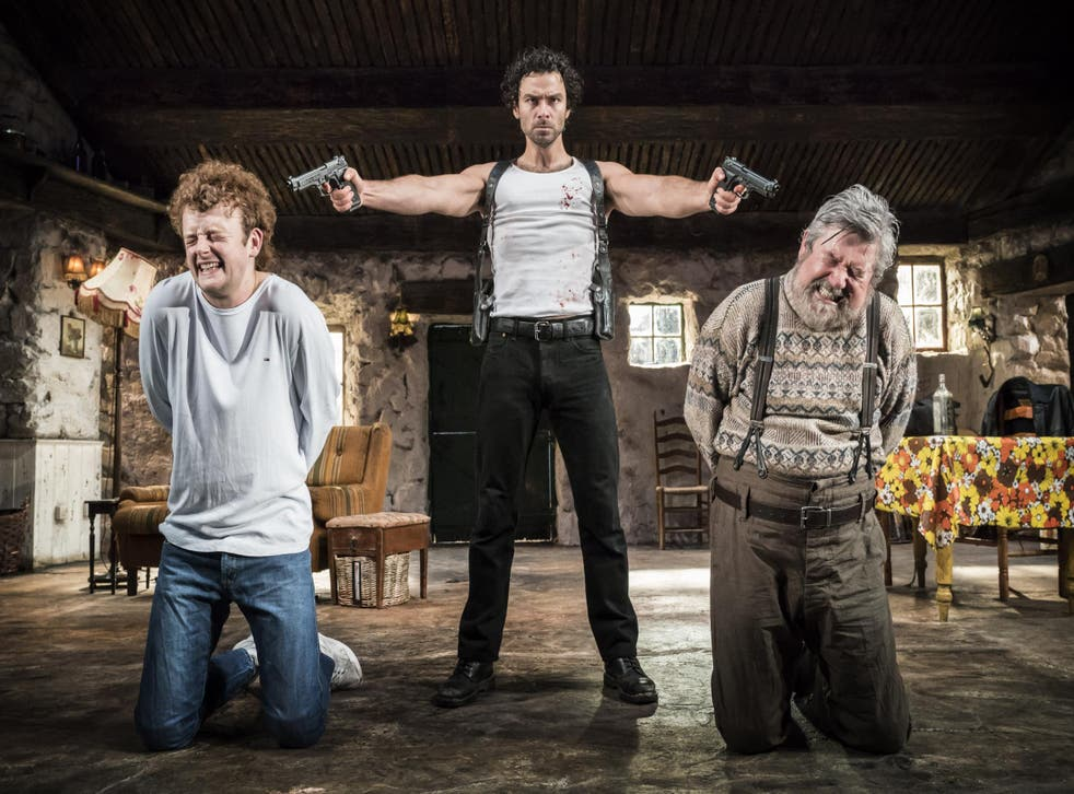 Chris Walley, Aidan Turner andDenis Conway in 'The Lieutenant of Inishmore'
