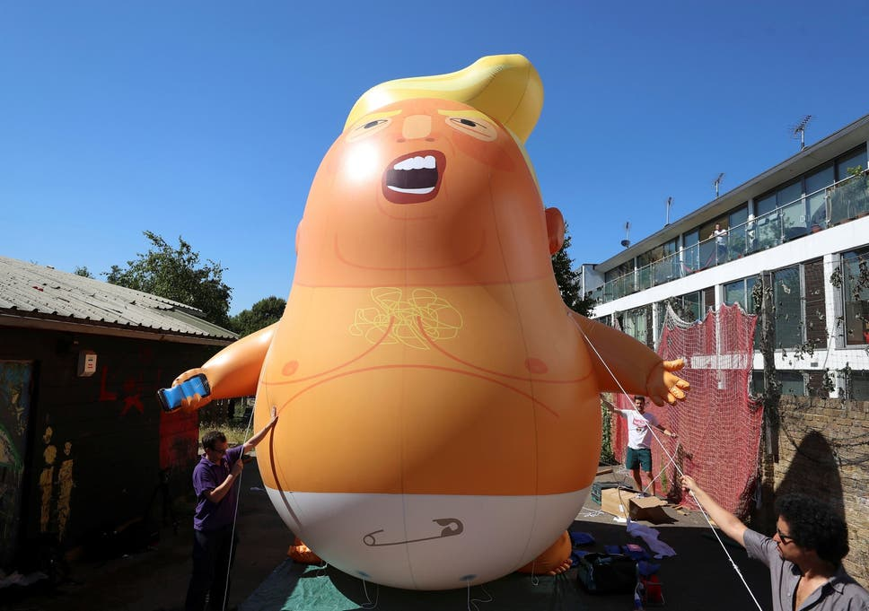 London mayor Sadiq Khan has described the balloon as a symbol of 'peaceful protest'