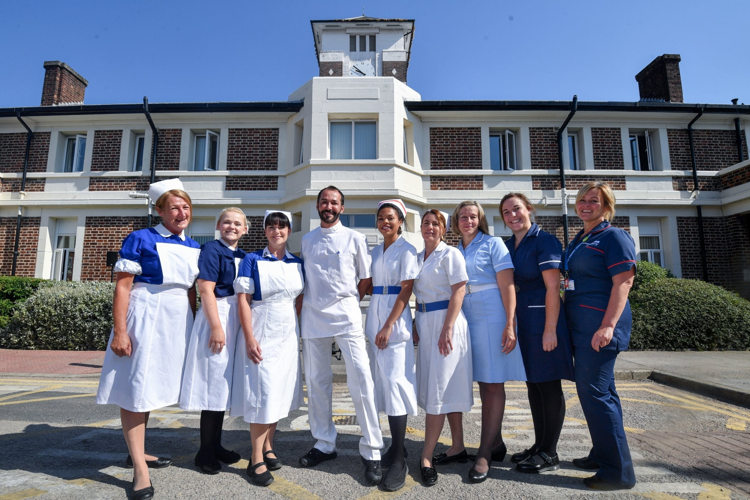 NHS at 70: Nurses pose in uniforms from seven decades to ...