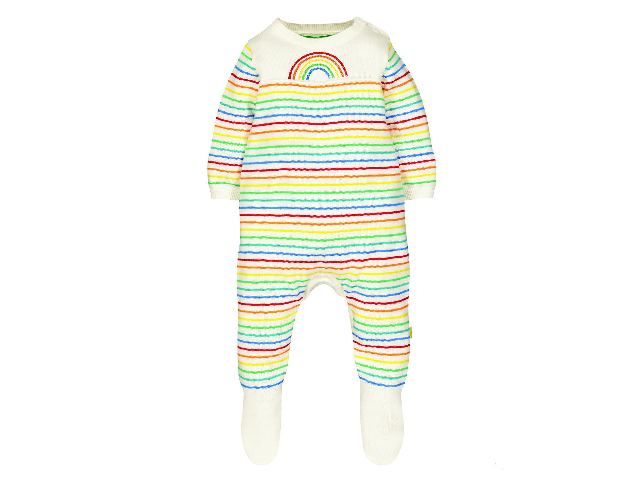 It has to be the signature rainbow knitted romper from the new baby  collection available in sizes 0-18mths. An ideal to take baby through from  summer to ... 78b436b82