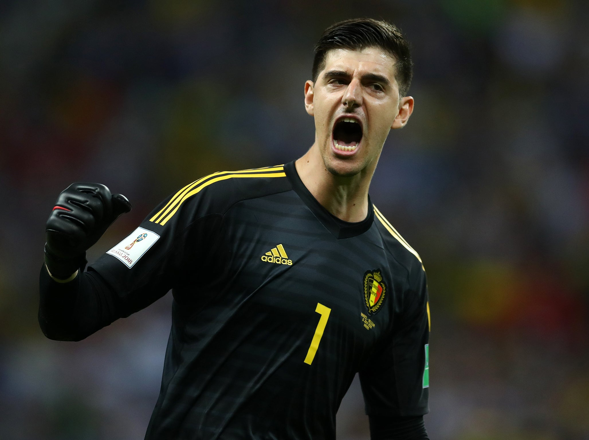 Belgium's Thibaut Courtois plays down row with World Cup rival Jordan Pickford: 'He is a great goalkeeper'