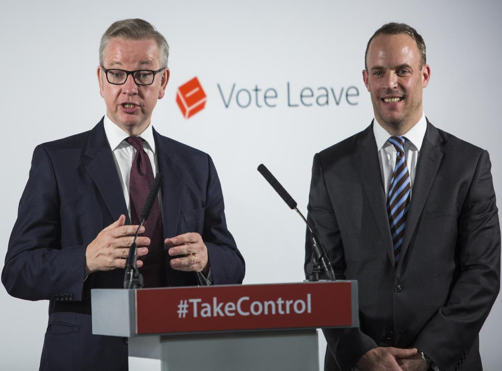 Picture: Dominic Raab was a prominent Leave campaigner.