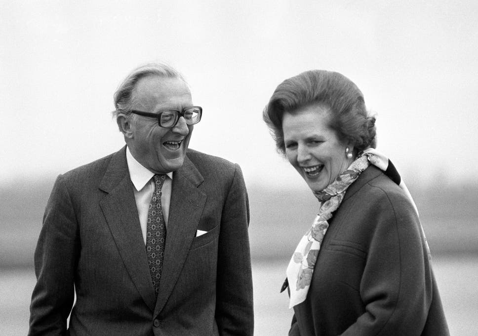 Carrington with Margaret Thatcher in 1982. He was unafraid of views that put him at odds with his own party