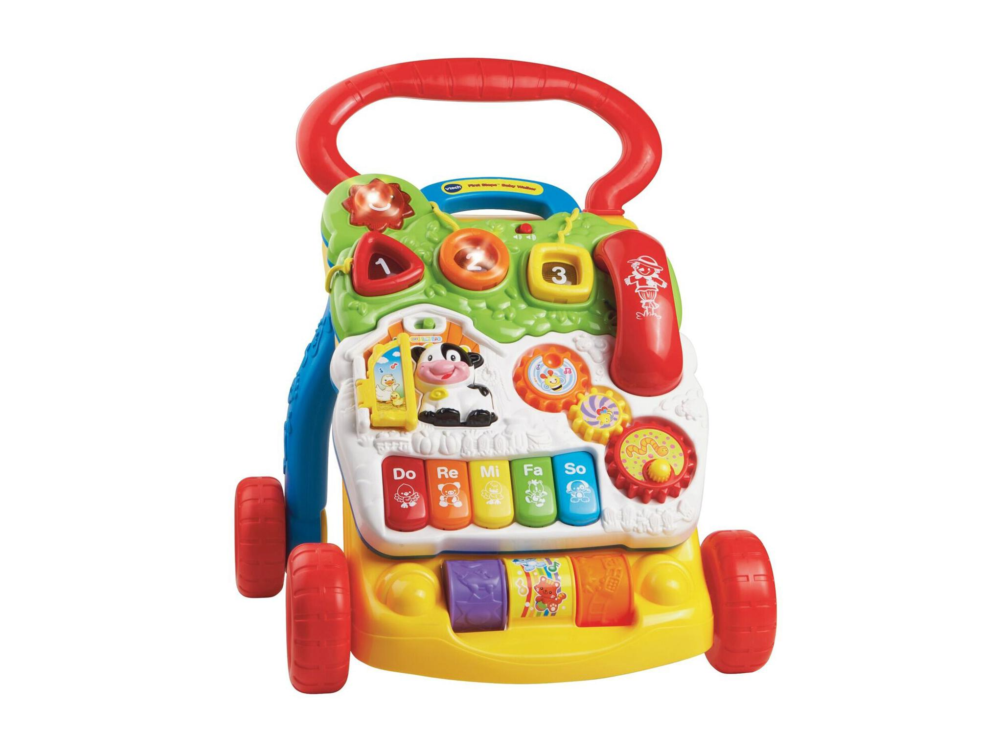 This colourful baby walker is designed to support and nurture your baby as  they takes their first steps. 6506af452