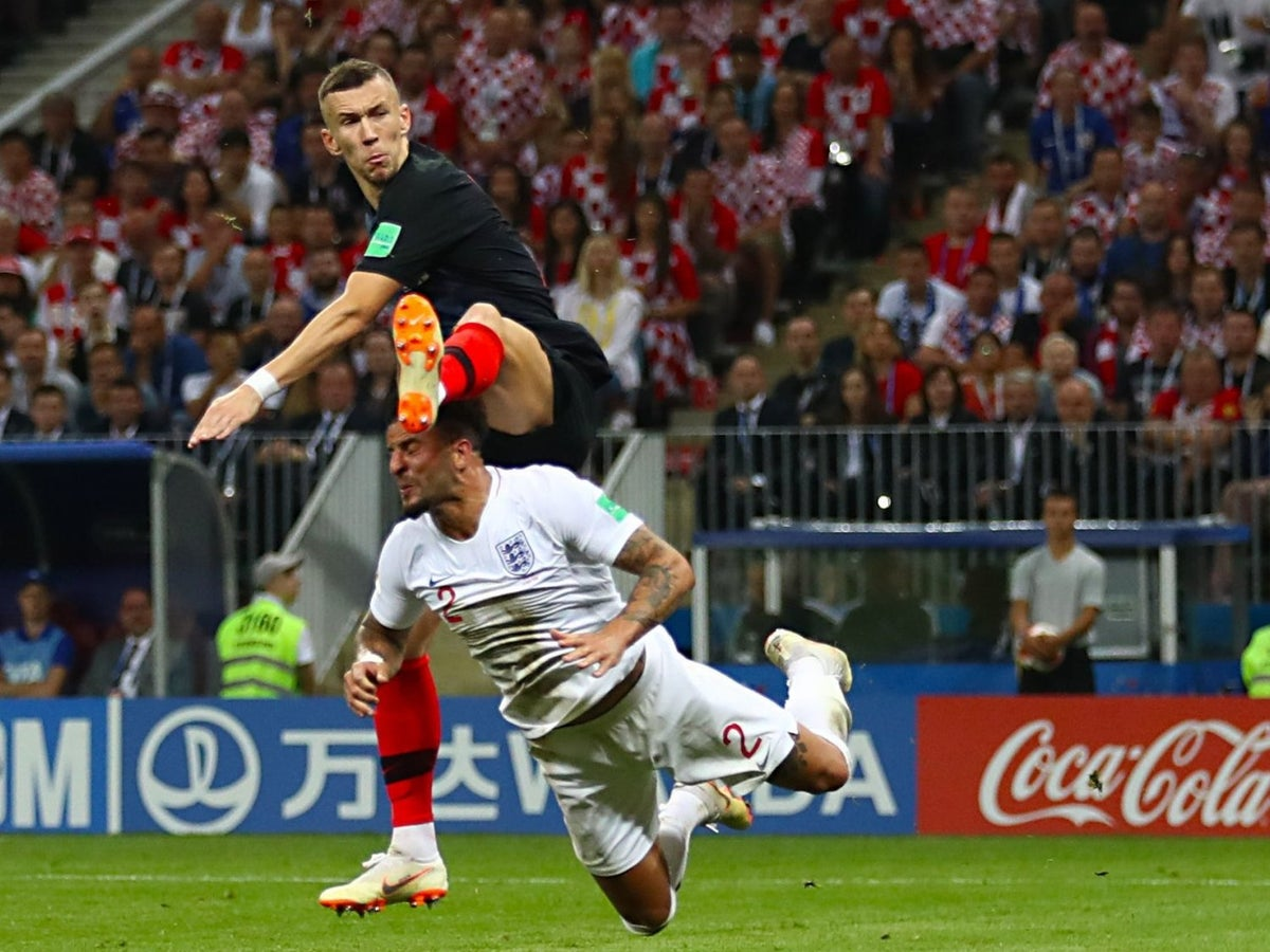 England vs Croatia referee Cuneyt Cakir criticised for not spotting high  foot in Ivan Perisic goal in World Cup semi-final   The Independent   The  Independent