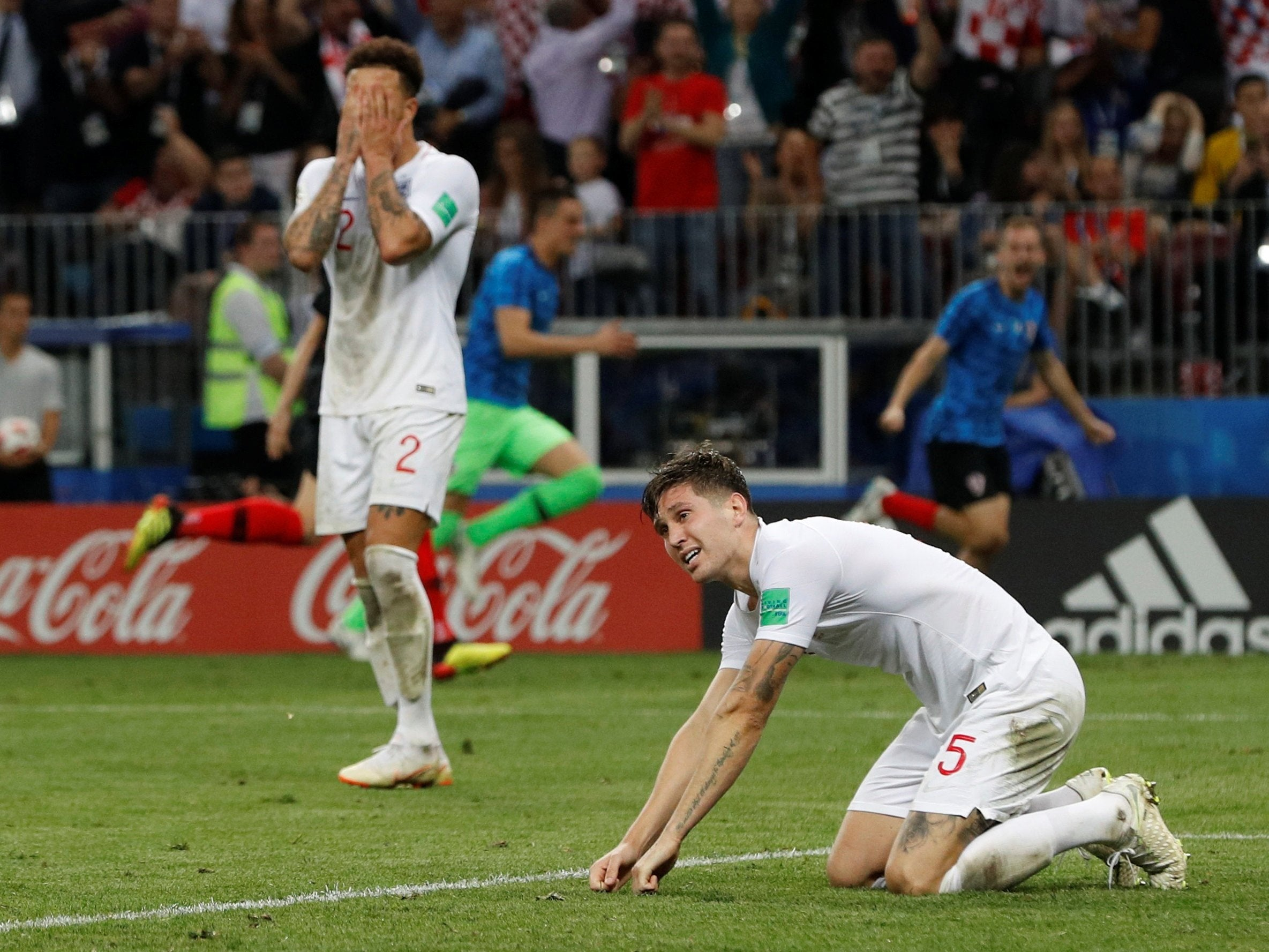 England 1-2 Croatia: Three lions come out of the world championship in a heartbreaking semifinal 60