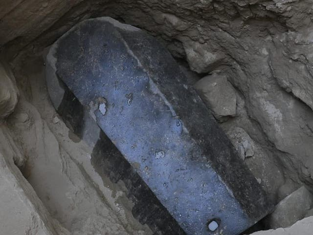 The sarcophagus, the largest found in Alexandria, has lain unopened for more than 2,000 years
