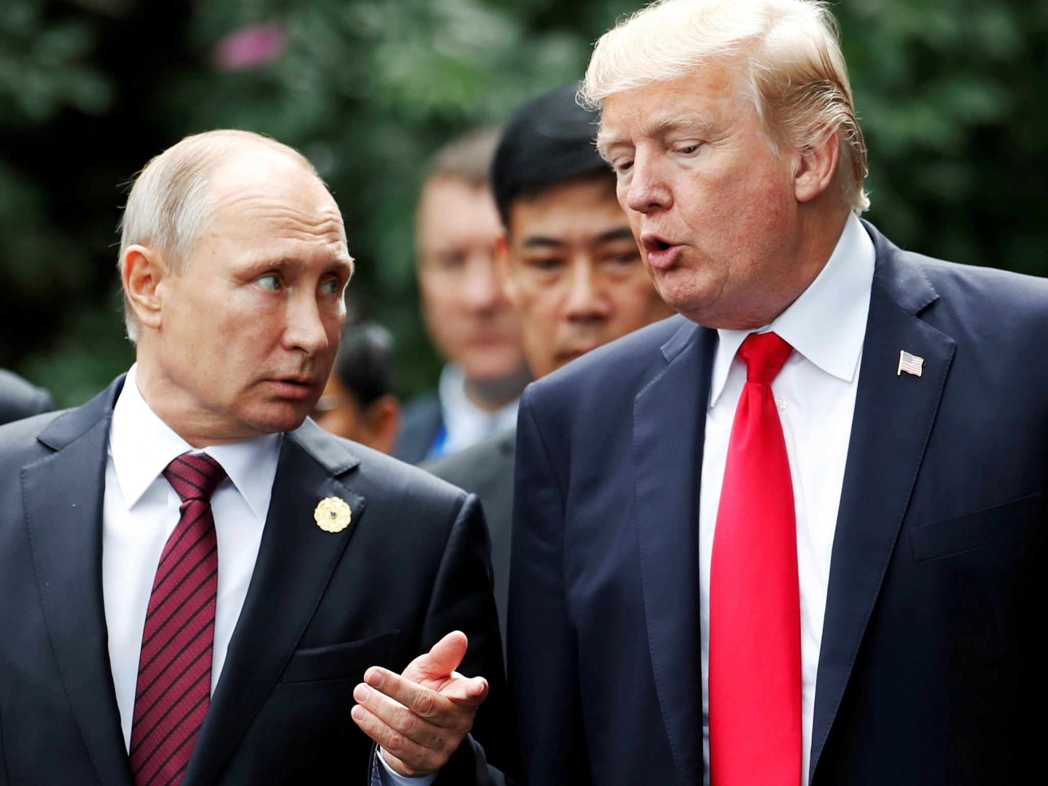 Trump-Putin summit: US president says he will question Russian leader over election meddling