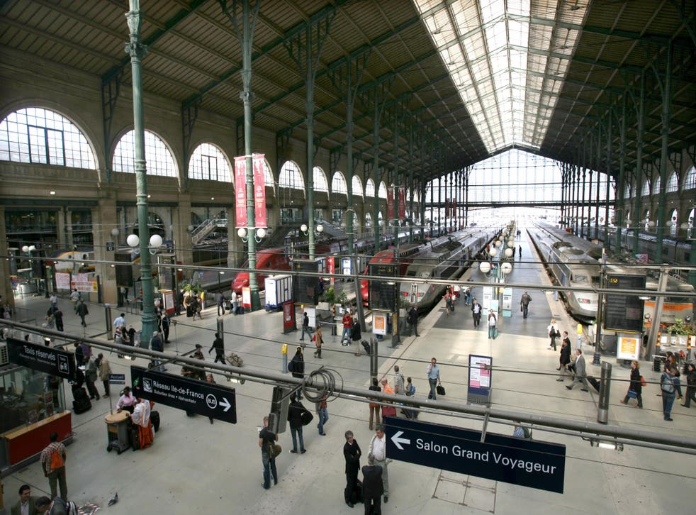 Gare du Nord station is the Paris stop for the cross-channel Eurostar