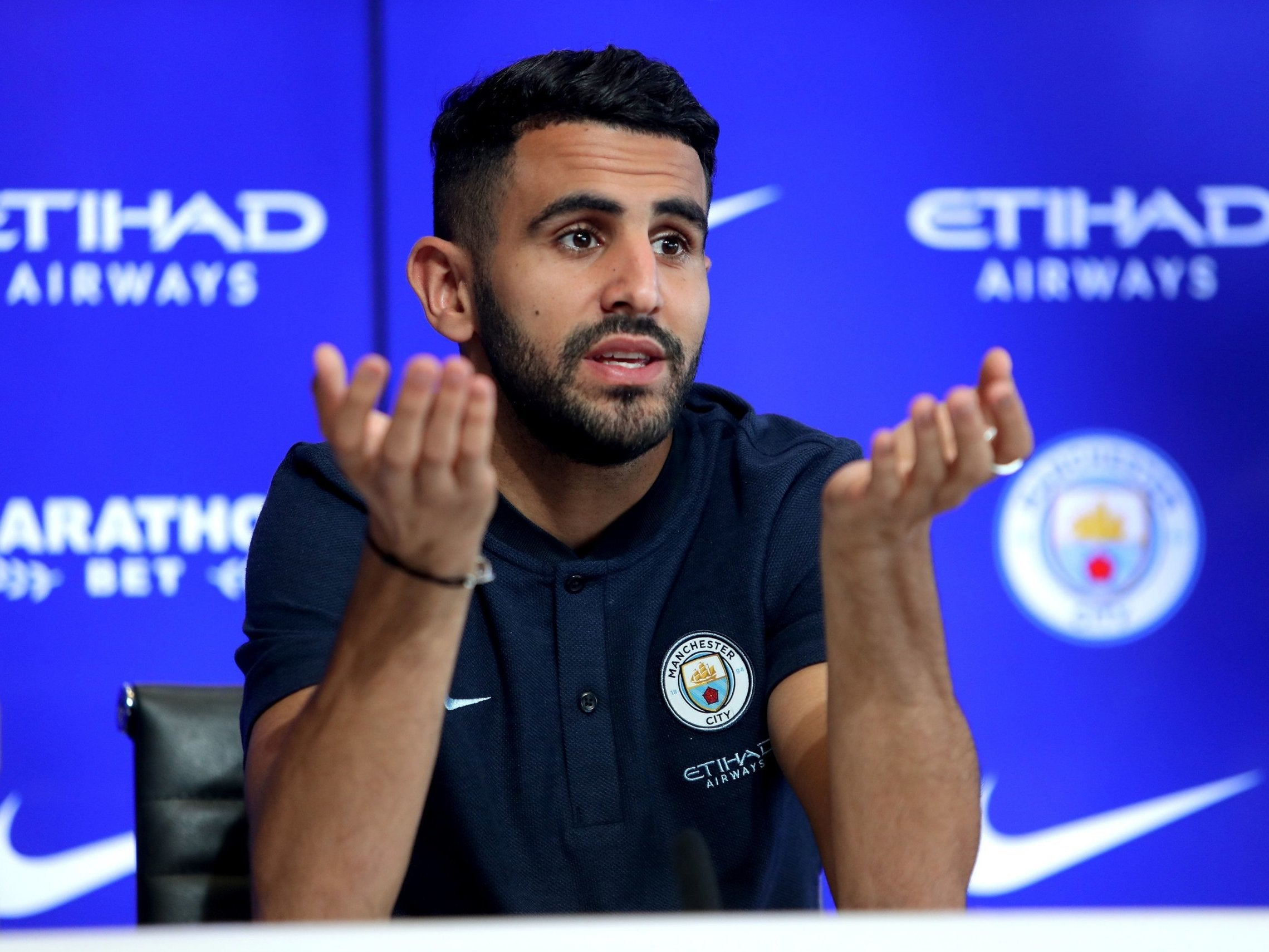 Riyad Mahrez, another talented schmuck scooped up by Manchester City simply for the sake of it