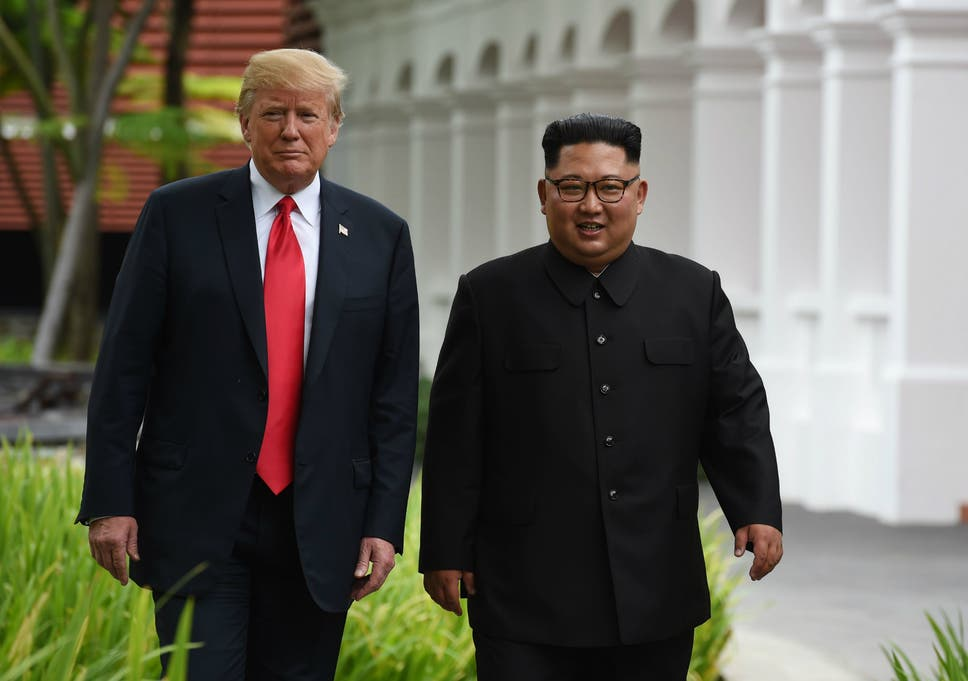 Image result for PHOTOS OF SUMMIT IN 2018 BETWEEN KIM JONG UN AND TRUMP