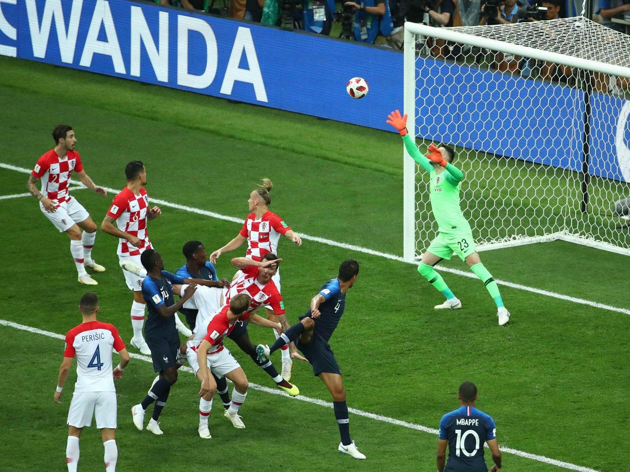 World Cup Final 2018 France Make History With Opening Goal Against Croatia
