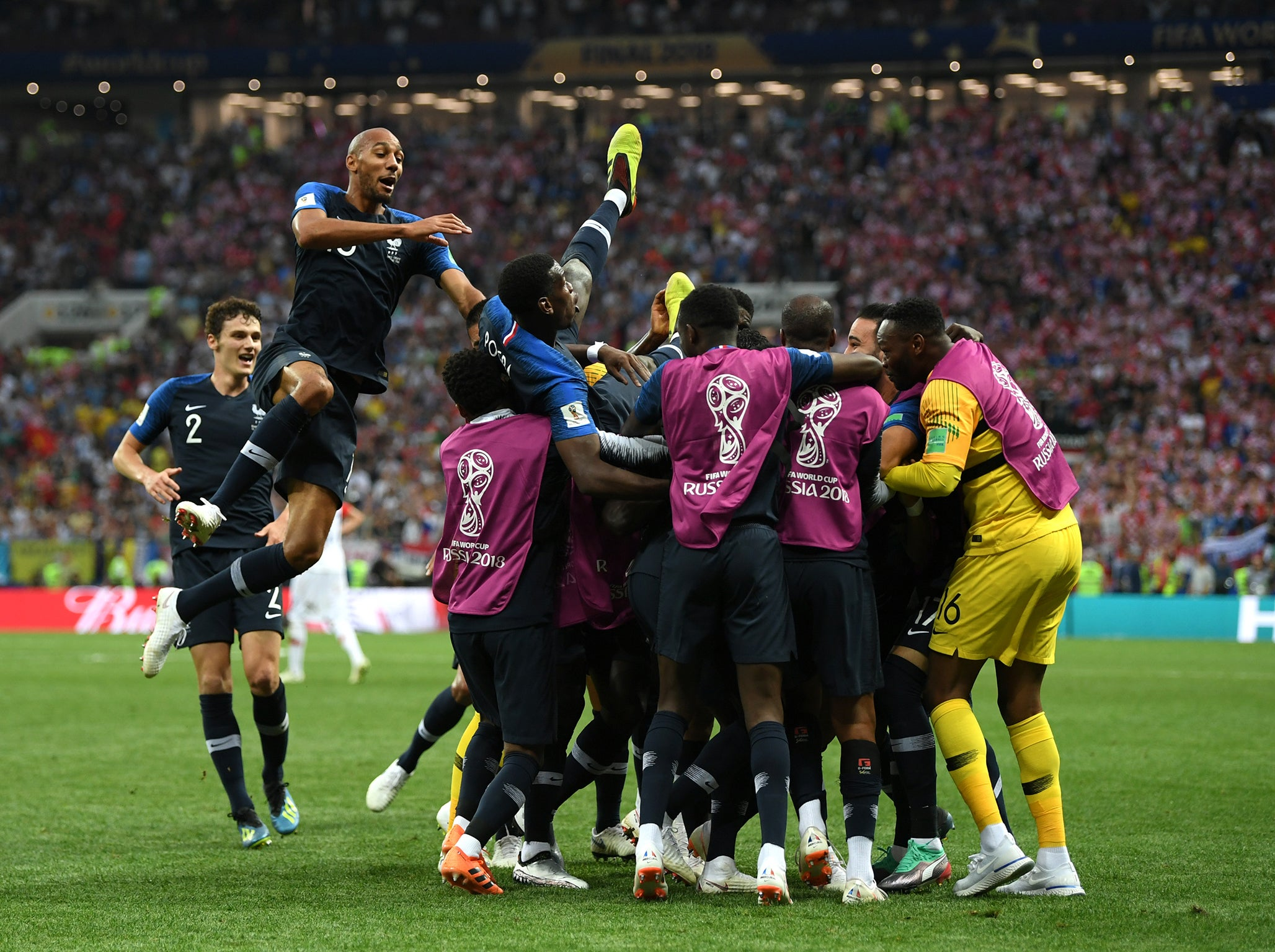 5e29c7ccb World Cup final 2018  France fired by Antoine Griezmann and Kylian Mbappe  goals
